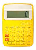 Bright calculator on white background — Stock Photo