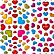Colorful heart shape isolated on white background — Stock Photo