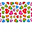 Colorful heart shape isolated on white background - Stock Photo