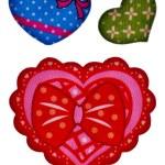 Colorful heart shape isolated on white background — Stock Photo #11426544