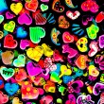 Colorful heart shape isolated on white background — Stock Photo #11426849