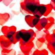 Colorful heart shape background — Stockfoto