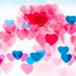 Colorful heart shape background — Stock Photo