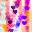 Stock Photo: Colorful heart shape background