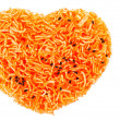 Heart shape Thai style crisp fried rice noodle — Stock Photo
