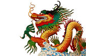 Native Chinese style dragon statue — Stock Photo