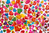Colorful heart shapes — Stock Photo