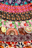 Texture of colorful cloth on woman dress in Thai style — Stock Photo