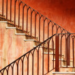 Staircase and old wall — Stock Photo