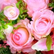 Stock Photo: Colorful artificial flowers