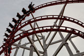 Structure of roller coaster rail — Stock Photo