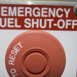 Emergency fuel shut off shallow depth of field — Stock Photo