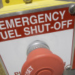 Emergency fuel shut off — Stock Photo