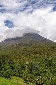Volcano Arenal on a cloudy day — Stock Photo