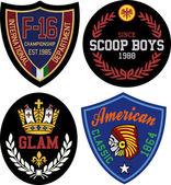 Abstract royal symbol badge — Stock Vector