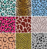 Seamless animal skin watch — Stock Vector