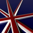 Three Dimentional Extruded British Flag — Stock Photo
