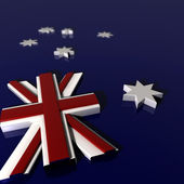 Three Dimentional Extruded Australian Nation Flag — Stock Photo