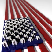 Three Dimentional Extruded USA Flag — Stock Photo