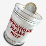 Donation Tin Can — Stock Photo