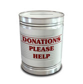 Donation Tin Can — Stock Photo