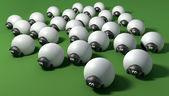 漫画の羊の群れ — ストック写真