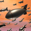 Dropping Bombs — Stock Photo