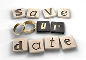 Save Our Date — Stock Photo