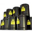 Hazardous Waste Barrel Stack — Stock Photo