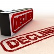 Declined Rubber Stamp - Stock Photo