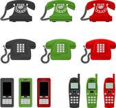 Douze téléphones — Vecteur