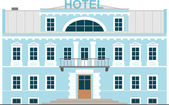 Small Hotel — Stock Vector