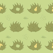 Seamless pattern with hedgehog — Stock Vector