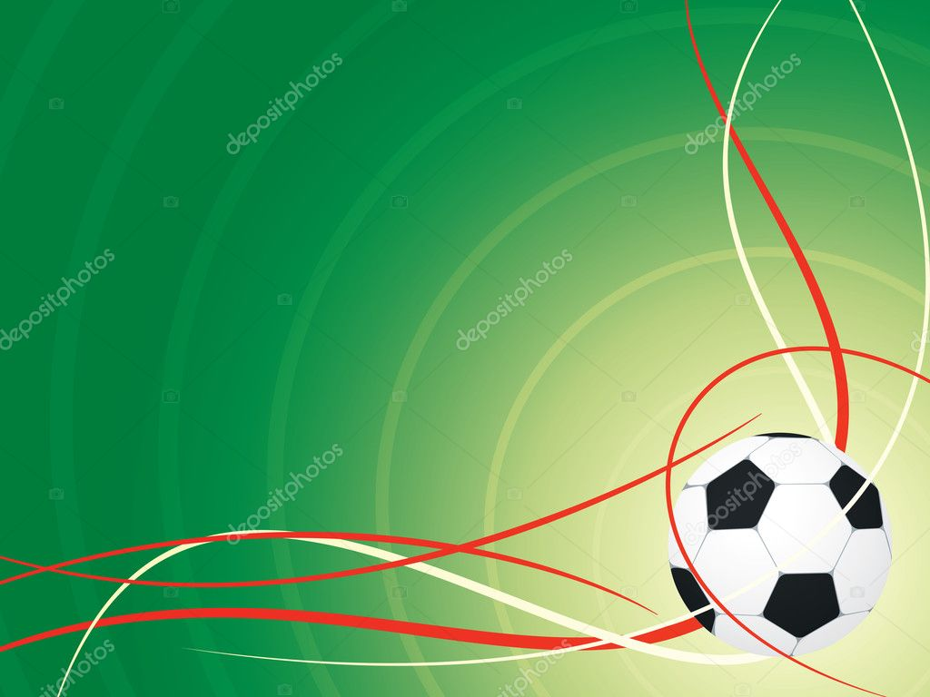 Soccer design background with white and red wave — Stock Vector #11530477