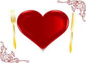 плита в форме сердца — Cтоковый вектор
