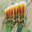Royalty-Free Stock Vector Image: Beer foam