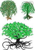 Fantastik vektör ağaçlar — Stok Vektör