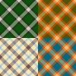 Stock Vector: Color plaid patterns set