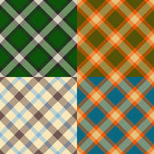 Color plaid patterns set — Stock Vector