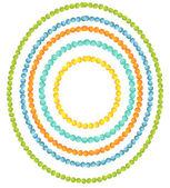 Beads frames set — Stock Vector