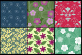 Floral patterns collection — Stock Vector