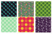 Patterns collection — Stock Vector