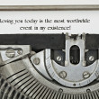 Loving You Typed on 1940 Typewriter - Stock Photo