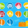 Royalty-Free Stock Immagine Vettoriale: Stickers with sights
