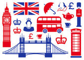 Icons on a theme of England — Stock Photo