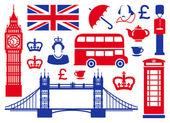 Ikony na temat anglii — Zdjęcie stockowe