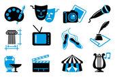 Iconos del arte — Vector de stock