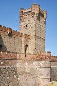 Castle of La Mota Tower (Vertical) — Stockfoto