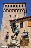 Monument at the streets of Segovia — Stock Photo