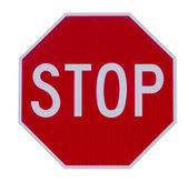 Stop sign roadside warning sign — Stock Photo
